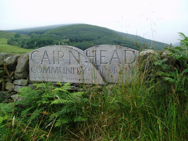 Cairnhead Community Forest Sign.