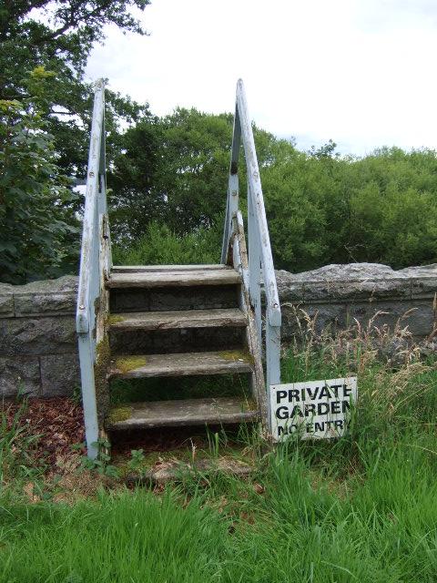 Stile to Gatehouse garden, Dunecht