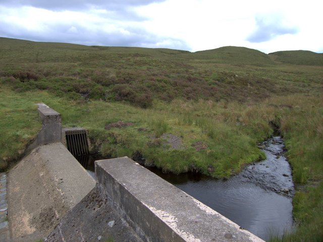 Rhaeadr Ddu weir and drain