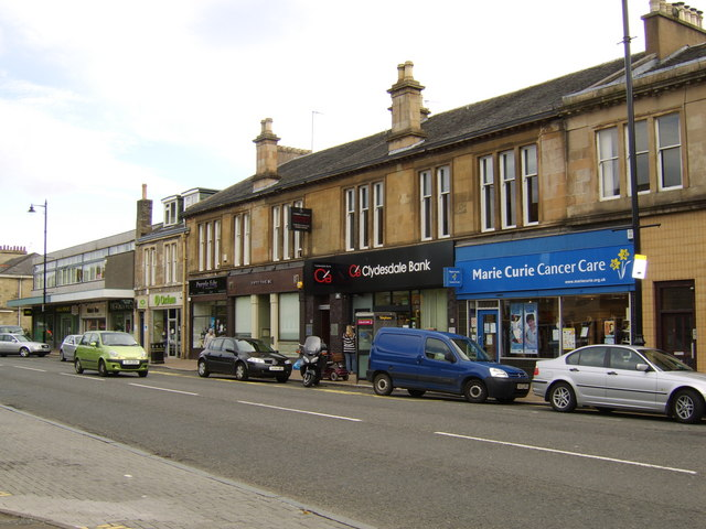 Row of shops, Drymen Road, Bearsden