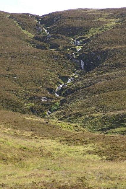 Waterfalls on Allt a' Chaorainn