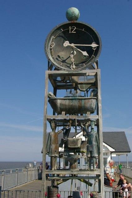 Water clock on Southwold Pier