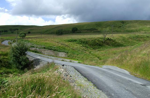 Road Straightening, Cwm Pysgotwr Fawr, Ceredigion