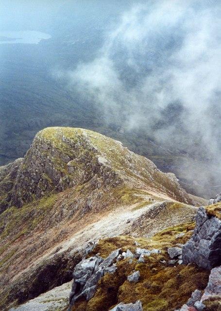 Beinn Damh, East ridge.