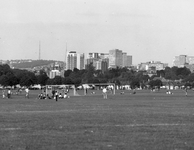 Football at Purley Way playing fields