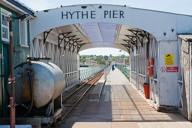 Seaward end of Hythe Pier