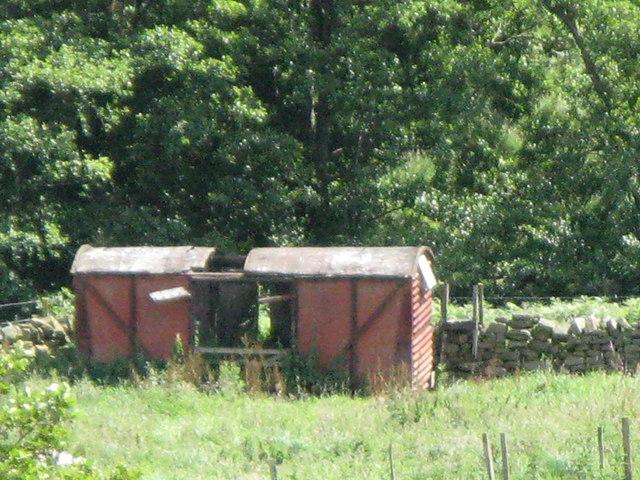 Old railway goods van