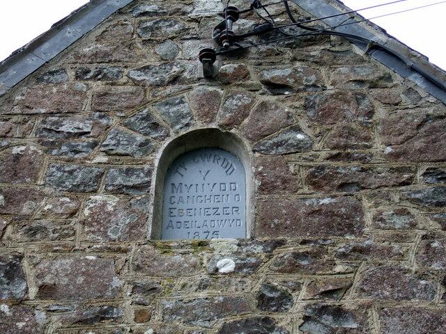 Name plaque on mountain chapel