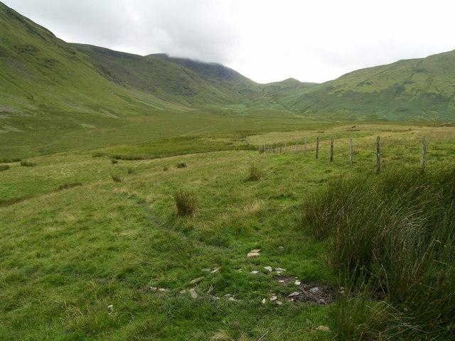 Looking towards the Mosedale Bog