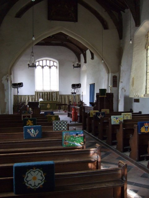Denham church interior