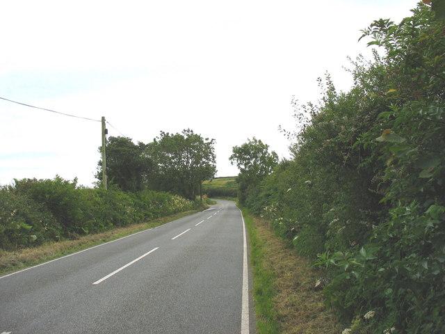 B5420 Llangefni to Menai Bridge road