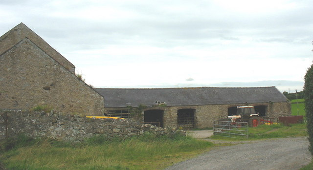 Traditional farm buildings at Plas Penmynydd