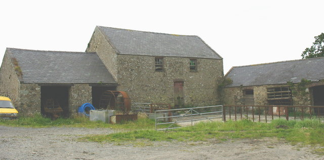 Another view of the farm buildings at Plas Penmynydd