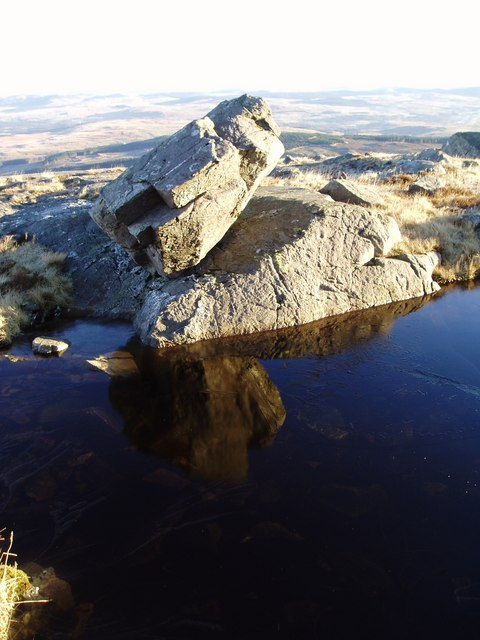 Frosty reflections on Meikle Lump.