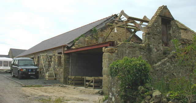 Barn in the process of conversion