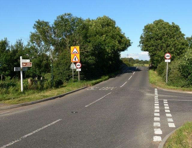 Merrylees Road, Lindridge Lane junction