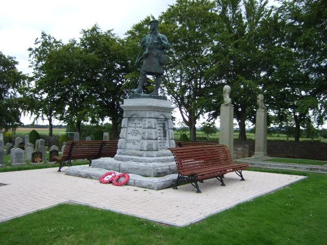 War Memorial in Echt cemetery