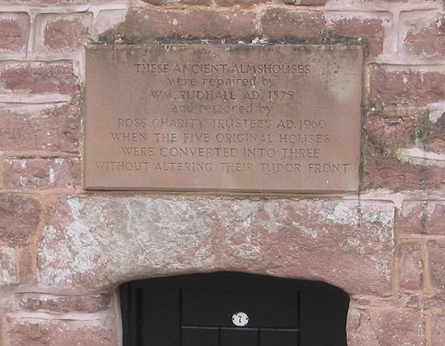 Inscription on almshouses in Church Street
