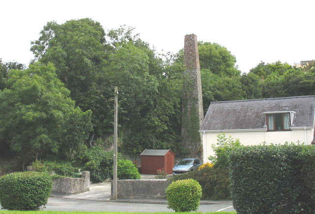 An industrial relic at the bottom of the garden
