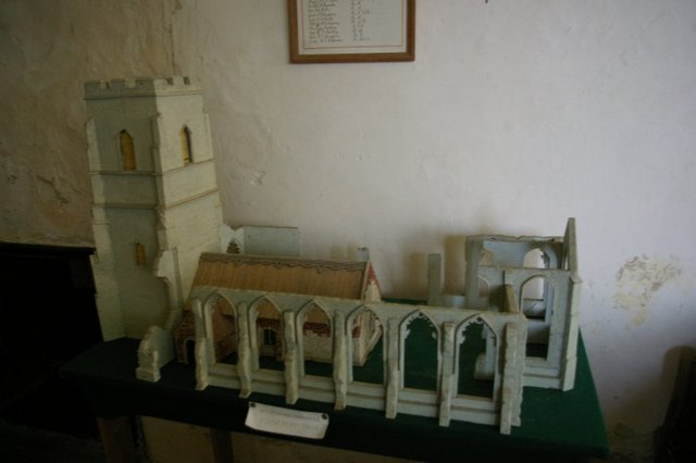 Model of current and former St Andrew's churches
