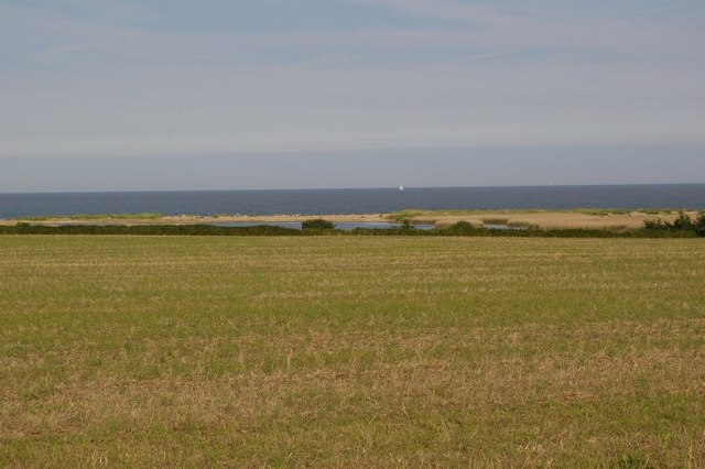 View across fields to Covehithe Broad