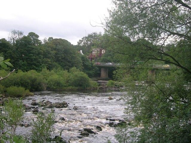 Wylam bridge and signal box