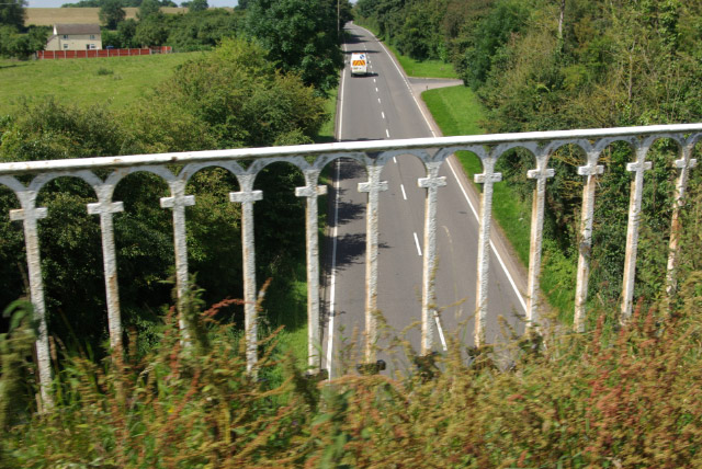 The A5 from Stretton Aqueduct