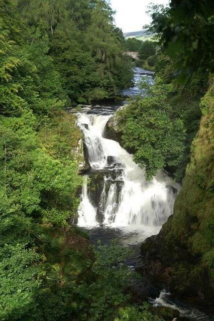 Reekie Linn waterfall on the River Isla