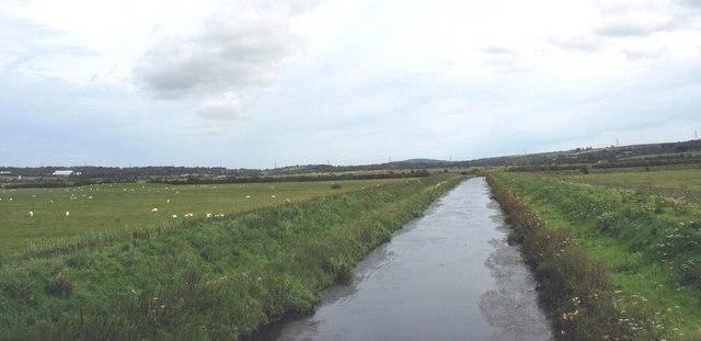 The Cefni upstream of Pont Bwcle (Bulkeley Bridge)