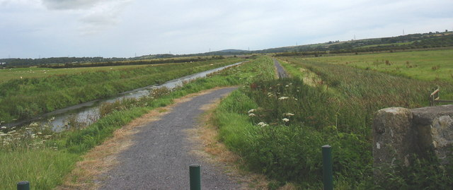 Cycle and walking path on the eastern embankment of Afon Cefni