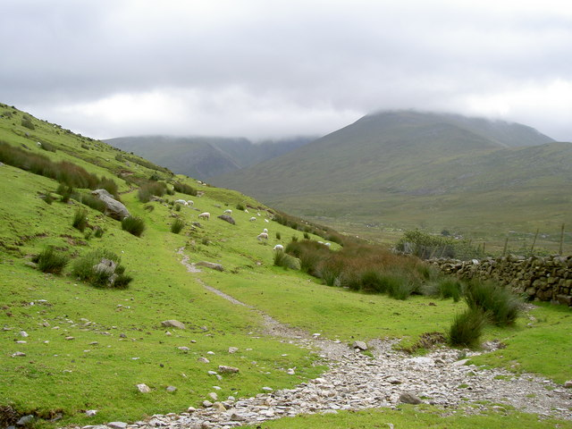 The path towards Cwm Caseg
