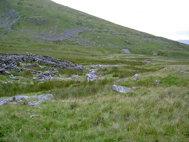 Sheepfold and Afon Wen