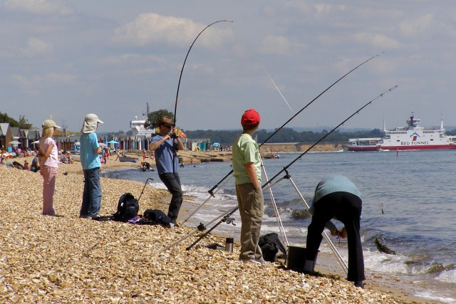 Beach fishing, Stanswood Bay