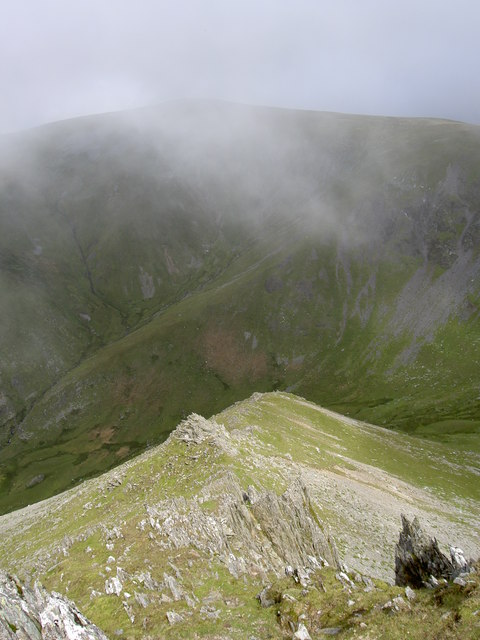Looking back down the North East ridge