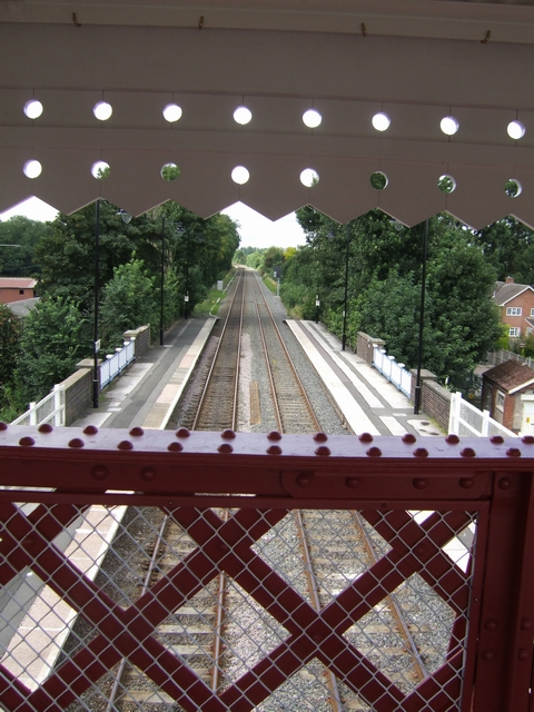 Station platforms from the repaired footbridge