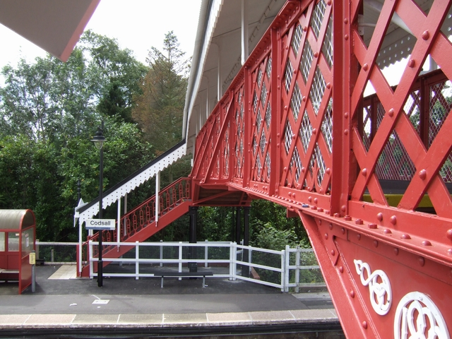Station footbridge