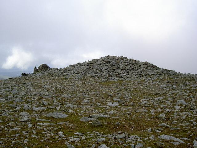 The summit of Foel Grach