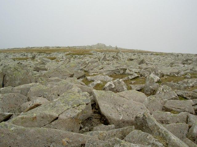 The top of Garnedd Uchaf