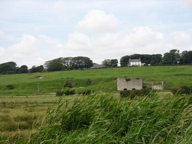 The disused limestone quarry below Lledwigan Farm