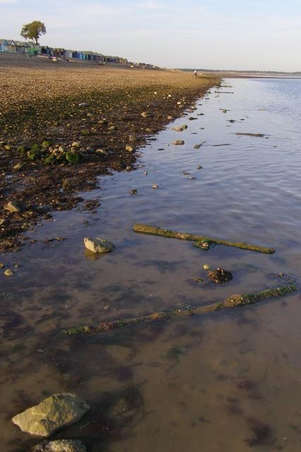 Shore at low tide, Calshot Beach