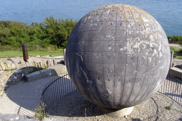 The Durlston Globe from above