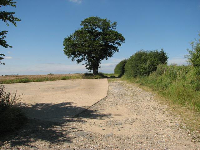 Track near Bradmoor Farm