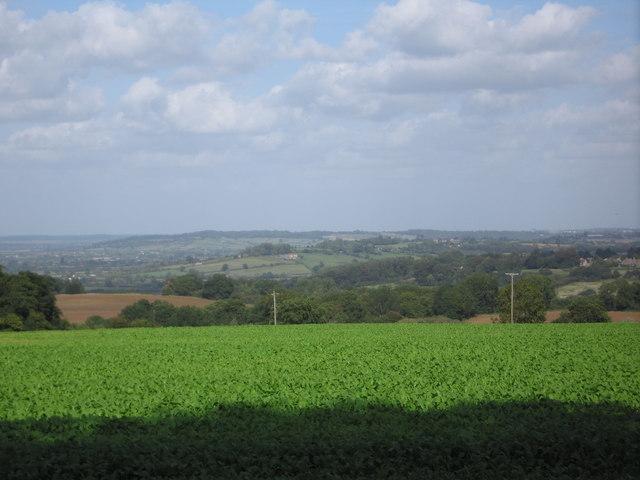Viewing northwards from the Sandy Lane / Naish Hill Road.
