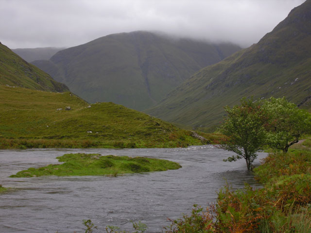 The River Croe in spate