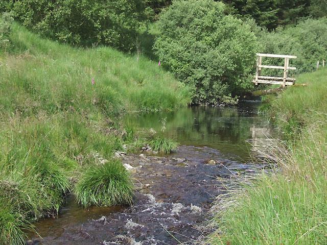 Afon Doethie Fawr and Footbridge, Ceredigion