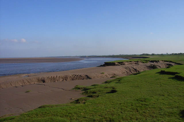 Easton Marsh & channel of the River Eden at low tide