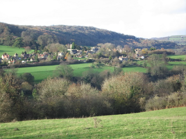 Claverton Village from Warleigh Wood