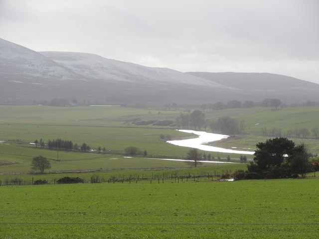 Wintry view towards the Clyde from Libberton school