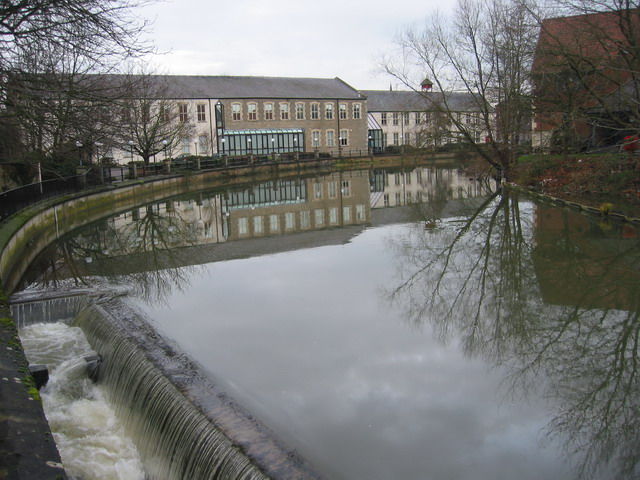 The Old Nestles Buildings and Fish Ladder