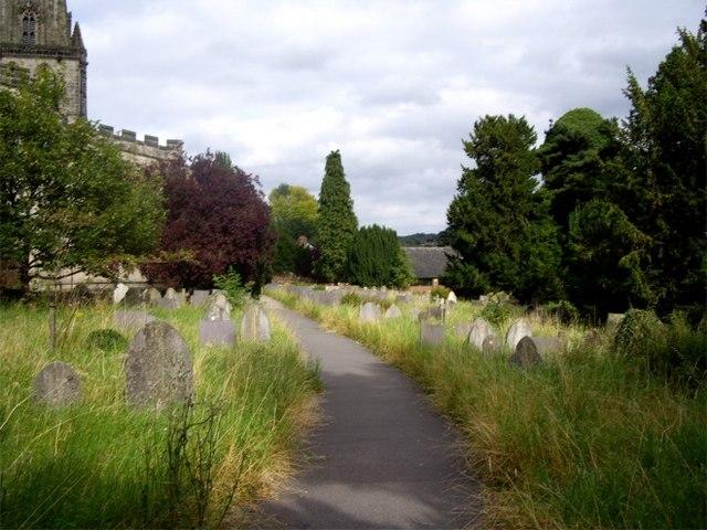 Graveyard at St Oswald Church, Ashbourne